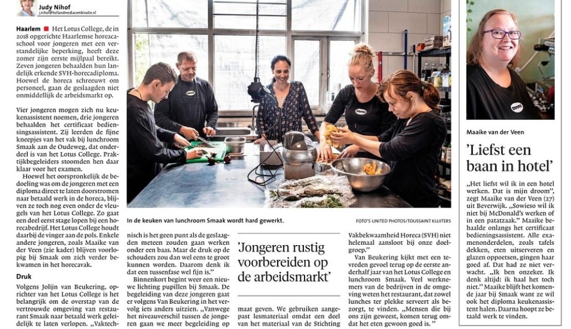 Mooi artikel in het Haarlems Dagblad